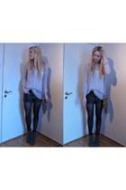 light pink Malene Birger sweater - heather gray Alexander Wang purse - heather g