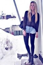 black Chanel purse - light blue Vintage Levis shorts - dark green Second Female