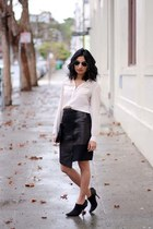 Shawn Burke x The Podolls purse - aviator ray-ban sunglasses - Tibi skirt