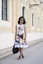 painted metal Clover Canyon dress