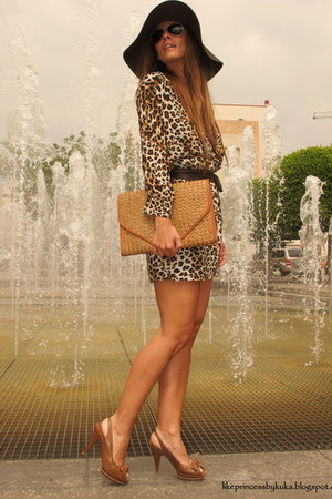zara shoes - sfera dress - frmula joven hat - bershka bag
