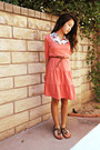 Salmon-midi-forever-21-dress-white-butterfly-macys-blouse