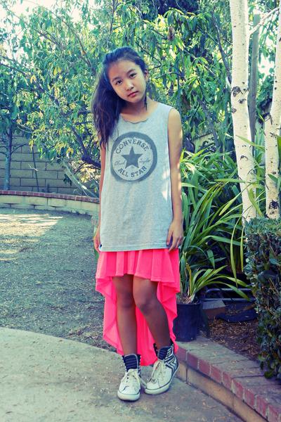 gray converse shirts pink high low h m skirts