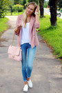 Sky-blue-h-m-jeans-pink-h-m-blazer-white-h-m-top-white-h-m-sneakers