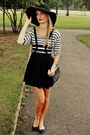 Black-h-m-hat-white-zara-shirt-black-h-m-bag-black-choies-skirt