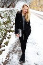 Black-h-m-boots-black-primark-coat-heather-gray-h-m-sweater