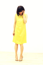 gold CrossWoodStore accessories - yellow mod dress CrossWoodStore dress