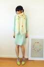 Aquamarine-silk-forever21-dress-ivory-hand-painted-crosswoodstore-scarf