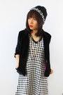 Houndstooth-pencey-standard-dress-minimalist-crosswoodstore-necklace