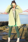Dark-green-zara-blouse-off-white-ankle-flat-thompson-boots