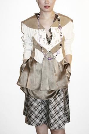 vintage jacket - Unocosa dress - necklace - Sample skirt