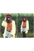 Lily & Lace Vintage shirt - burnt bowler Topshop hat