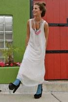 vintage necklace - Stella & Dot necklace - denim Madison Harding shoes
