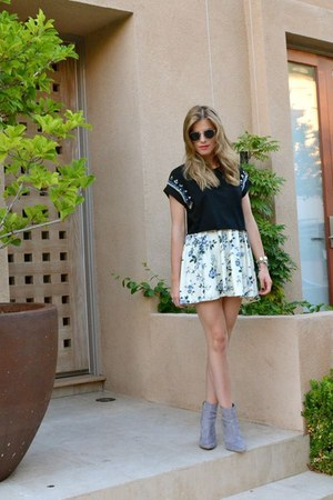 Purrr LA skirt - H&M boots - Topshop shirt - Tiffany & Co watch