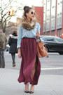 Olivia-palermo-meli-melo-bag-aviator-ray-ban-sunglasses-burgundy-zara-skirt