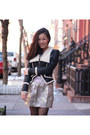 Fan-jacket-metallic-urban-outfitters-skirt