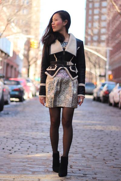 FAN jacket - metallic Urban Outfitters skirt