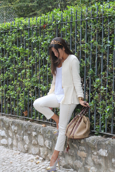 Zara coat - BLANCO shoes - H&M bag - Zara pants