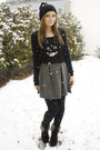 No-name-hat-h-m-shirt-ebay-tights-h-m-skirt-h-m-cardigan