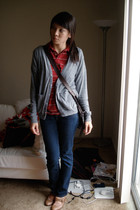 American Apparel sweater - shirt - modcloth shoes