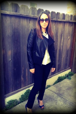 Chanel sunglasses - Boutique 9 shoes - Zara jacket - Forever 21 pants