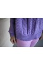 Light-pink-american-eagle-jeans-light-purple-rubyred-sweater