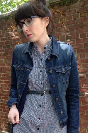 Old Navy jacket - Urban Outfitters dress - Urban Outfitters belt
