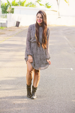 dark gray Zara dress