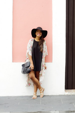 black brandy melville dress - black Forever 21 hat