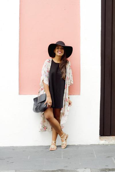 black brandy melville dress - black Forever 21 hat