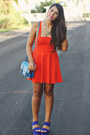 Carrot-orange-zara-dress-blue-steve-madden-bag-blue-forever-21-wedges