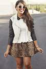 Black-jacket-white-peplum-top-dark-brown-leopard-print-zara-skirt