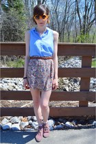 bubble gum thrift shoes - sky blue H&M shirt - white Urban Outfitters socks