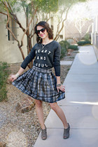 Forever 21 skirt - Old Navy sweatshirt - Sole Society heels