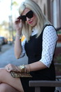 Black-jumper-gap-dress-ivory-polka-dots-kohls-top