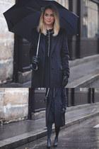 black pyjama Eres dress - black mohair maison martin margiela coat
