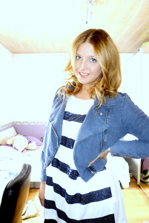 blue H&M dress - navy H&M jacket