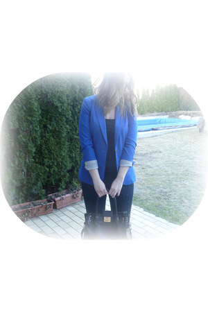 H&M jeans - H&M blazer - Local store bag - H&M top