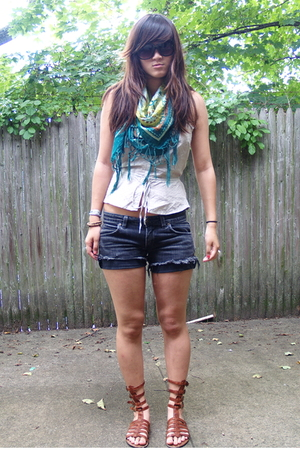 H&M top - dollar store shorts - Jeffrey Campbell shoes - Urban Outfitters access