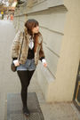 Beige-fes-jacket-black-cardigan-white-gap-blouse-blue-lee-shorts-black-z