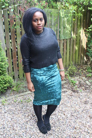 Topshop skirt - H&M jumper - garage flats