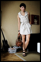vintage dress - Mulberry purse - PROENZA SCHOULER shoes