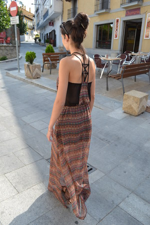 Bershka dress - brown sandals