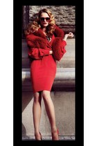 ruby red Aldo dress