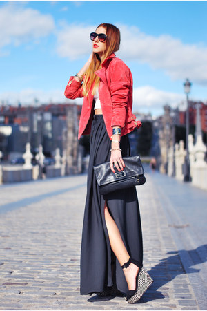 black Marc by Marc Jacobs bag - red Mango jacket - black Zara wedges