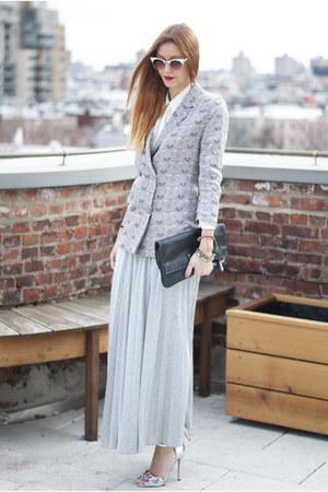 silk Choies blazer - Zara shirt - Marc by Marc Jacobs bag - Primark sandals