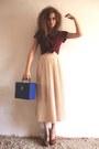 Blue-record-box-vintage-bag-brick-red-suede-new-look-heels-neutral-midid-len