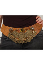 Tooled-leather-lotus-vintage-belt