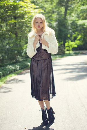 vintage dress - vintage sweater