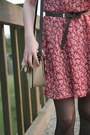 Floral-print-thrifted-vintage-dress